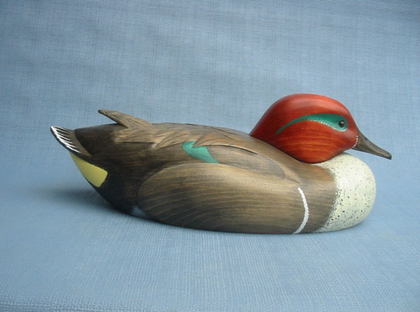 Magnum Green Winged Teal Drake Decoy