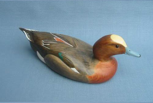 Wood Carving - Handcarved Classic European Wigeon Decoy