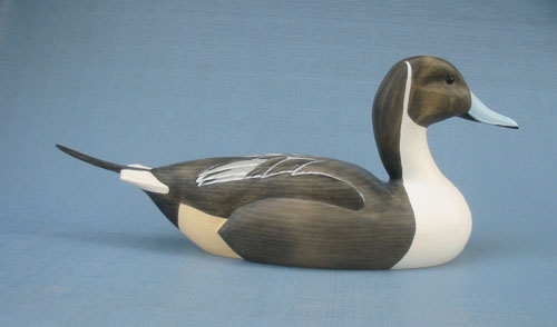 Wood Carving - Classic Handcarved Pintail Drake Decoy