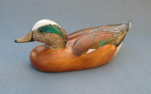 Wood Carving - Handcarved American Wigeon Drake Decoy